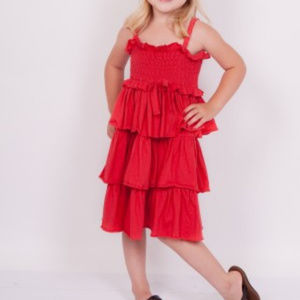 Jelly the Pug Smocked Tiered Dress, Girl 3T